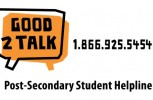 Good2Talk offers counselling and resources to post-secondary students in need.