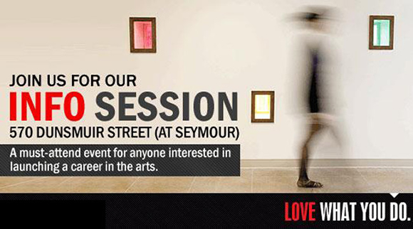 VanArts Hosting Free Info Session on September 27